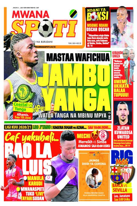 MASTAA WAFICHUA JAMBO YANGA    Mwanaspoti