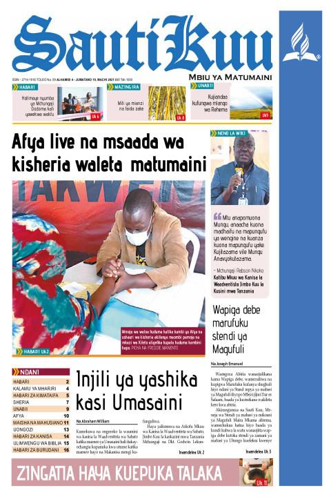 Afya live na msaada wa kisheria waleta matumaini | Sauti Kuu Newspaper