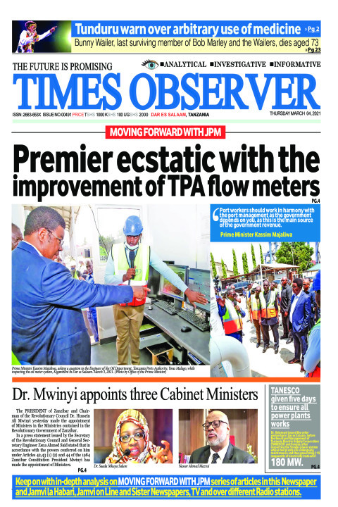 Premier ecstatic with the improvement of TPA flow meters | Times Observer