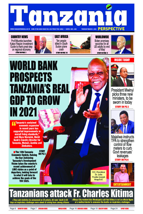 World Bank prospects Tanzania's real GDP to grow in 2021 | Tanzania Perspective