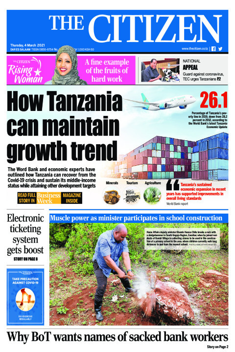 HOW TANZANIA CAN MAINTAIN GROWTH TREND  | The Citizen