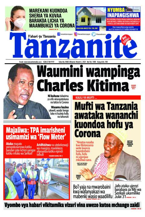 Waumini wampinga Charles Kitima | Tanzanite