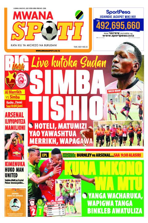 SIMBA TISHIO,KUNA MKONO WA MTU    Mwanaspoti