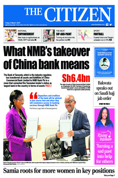 WHAT NMB'S TAKEOVER OF CHINA BANK MEANS | The Citizen