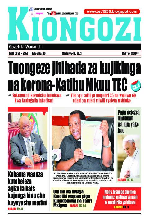 Tuongeze jitihada za kujikinga na korona-Katibu Mkuu TEC | Kiongozi