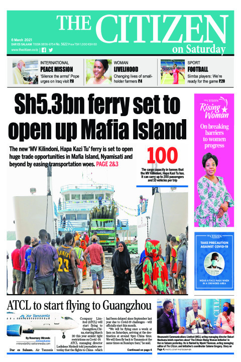 SH5.3BN FERRY SET TO OPEN UP MAFIA ISLAND 