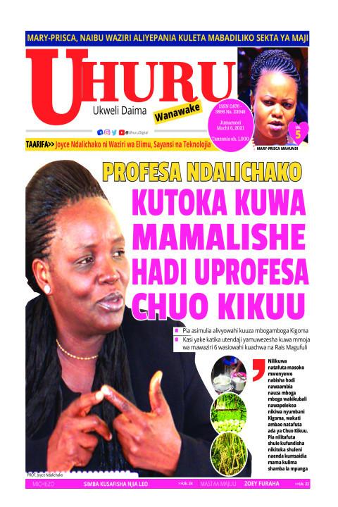 Kutoka kuwa mamalishe hadi Uprofesa chuo Kikuu   Uhuru