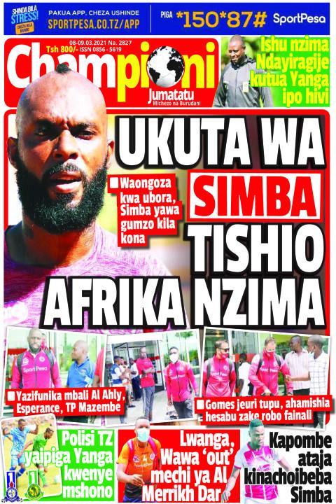 UKUTA WA SIMBA TISHIO AFRIKA NZIMA | Champion Jumatatu