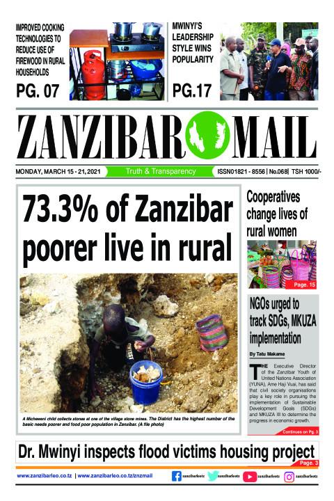 73.3% of Zanzibar poorer live in rural | ZANZIBAR MAIL