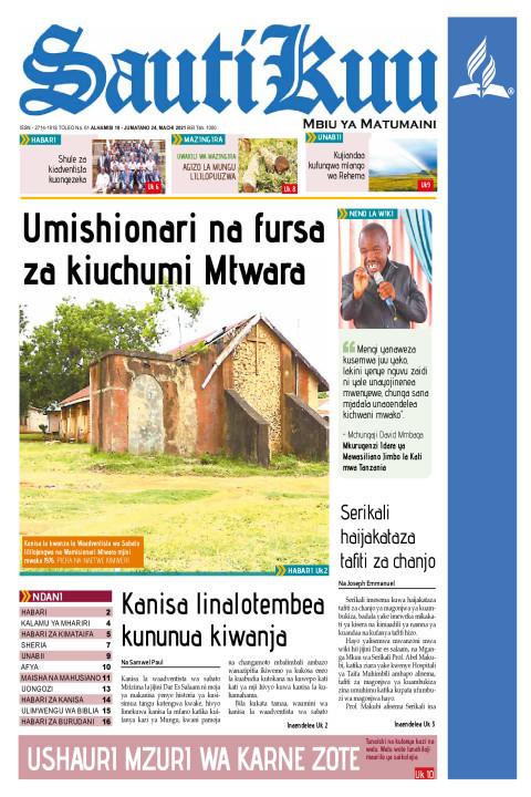 Umishionari na fursa za kiuchumi Mtwara | Sauti Kuu Newspaper