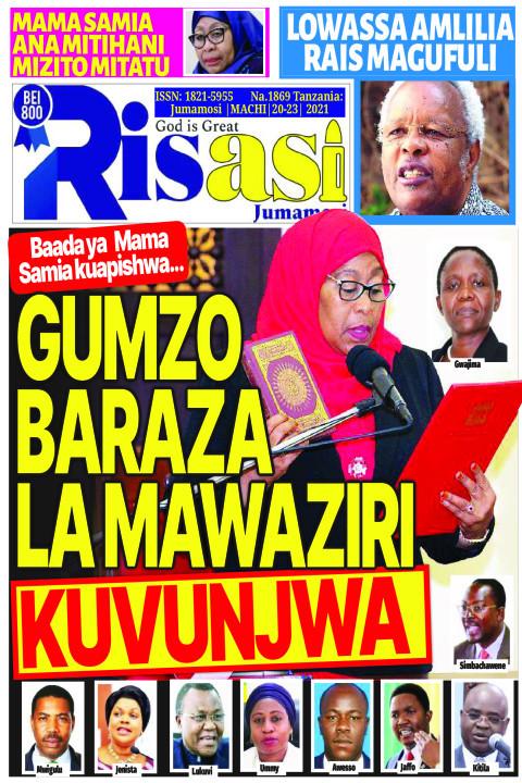 GUMZO BARAZA LA MAWAZIRI KUVUNJWA | Risasi Jumamosi