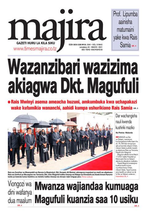 Wazanzibari wazizima akiagwa Dkt. Magufuli | MAJIRA