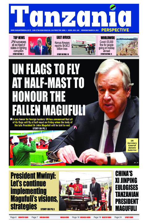 UN flags to fly at half-mast to honour the fallen Magufuli | Tanzania Perspective
