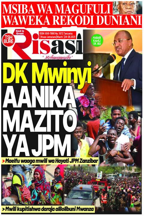 DK Mwinyi AANIKA MAZITO YA JPM | Risasi Mchanganyiko