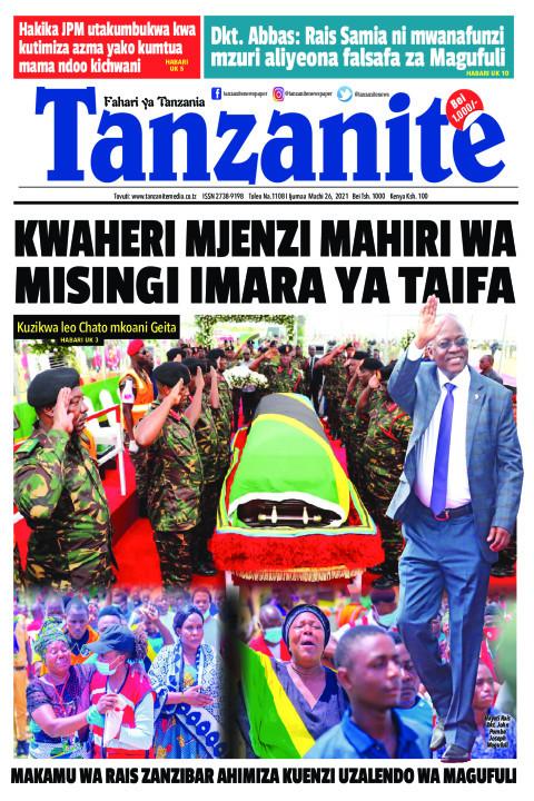 KWAHERI MJENZI MAHIRI WA MISINGI IMARA YA TAIFA | Tanzanite