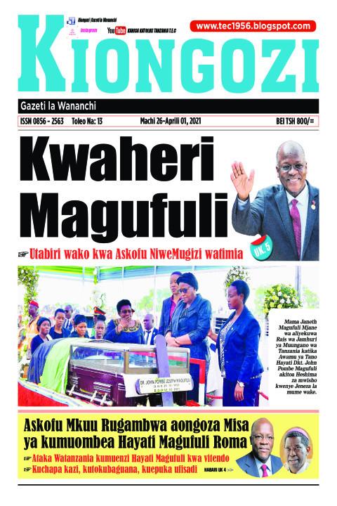 Kwaheri Magufuli | Kiongozi