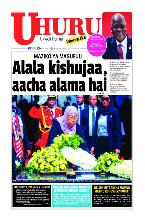 Alala kishujaa, aacha alama hai | Uhuru