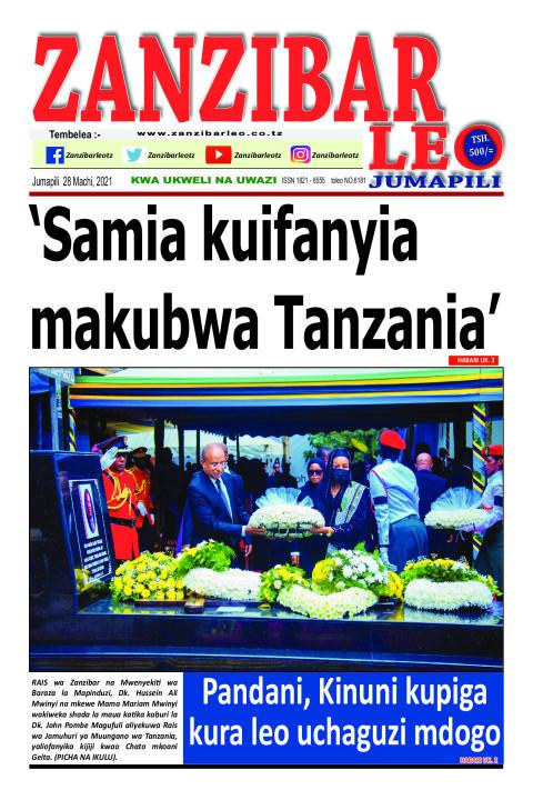 'Samia kuifanyia makubwa Tanzania' | ZANZIBAR LEO