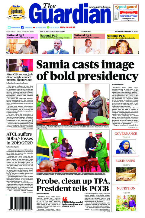 Samia casts image of bold presidency  | The Guardian