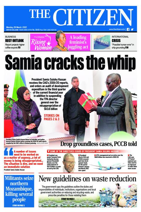 SAMIA CRACKS THE WHIP  | The Citizen