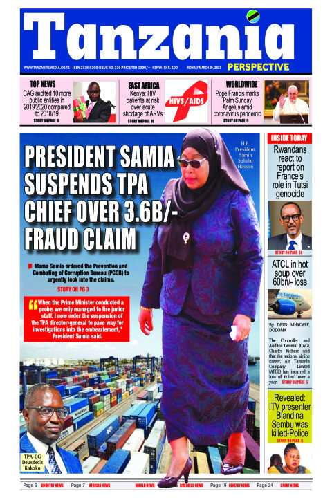 PRESIDENT SAMIA SUSPENDS TPA CHIEF OVER 3.6B/- FRAUD CLAIM | Tanzania Perspective