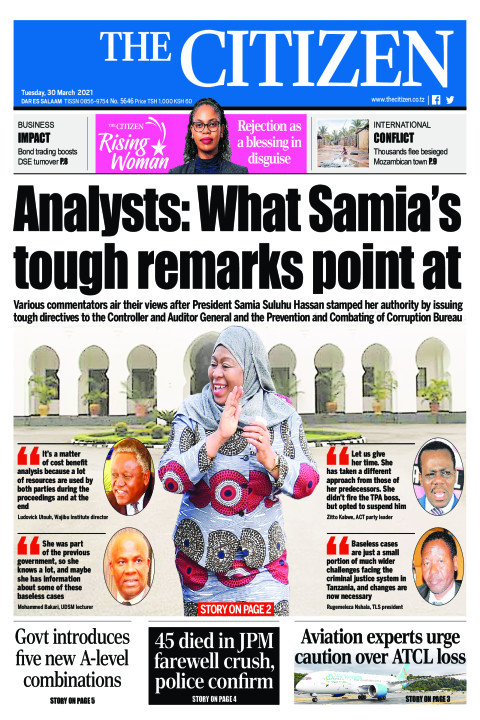 ANALYST: WHAT SAMIA TOUGH REMARKS POINT AT