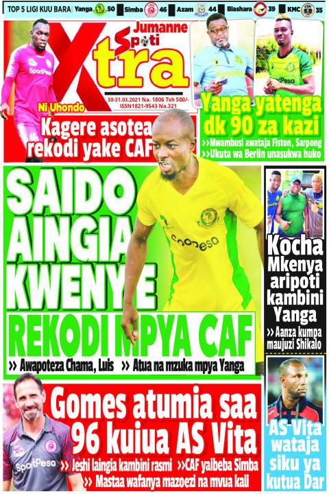 SAIDO AINGIA KWENYE REKODI MPYA CAF | SpotiXtra Jumanne