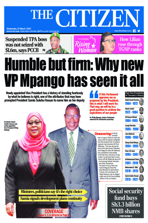 HUMBLE BUT FIRM: WHY NEW VP MPANGO HAS SEEN IT ALL