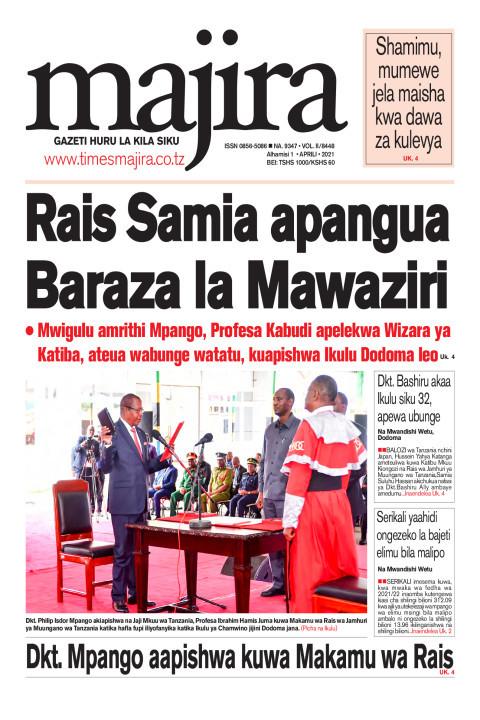Rais Samia apangua Baraza la Mawaziri | MAJIRA