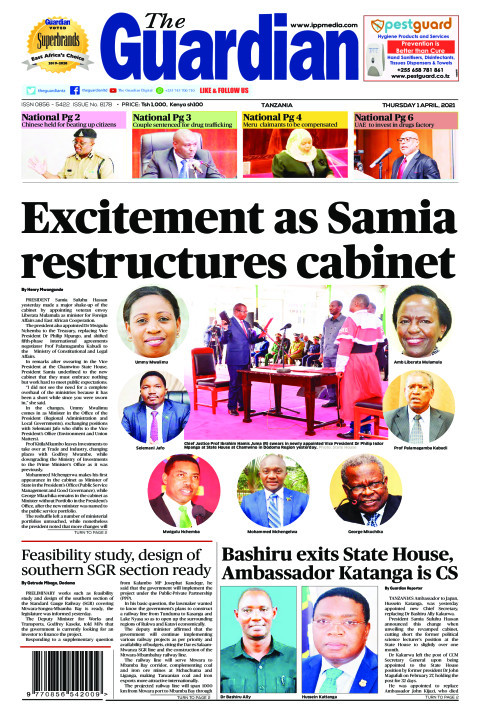 Excitement as Samia restructures cabinet  | The Guardian