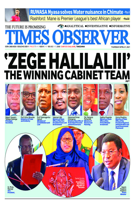 'ZEGE HALILALIII' THE WINNING CABINET TEAM | Times Observer