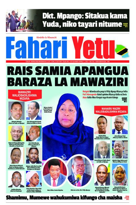 RAIS SAMIA APANGUA BARAZA LA MAWAZIRI | Fahari Yetu