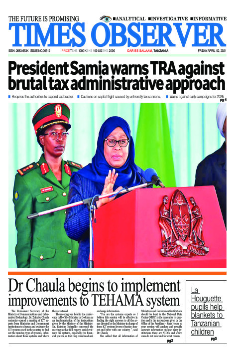 President Samia warns TRA against brutal tax administrative  | Times Observer