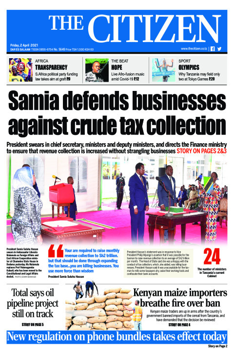 SAMIA DEFENDS BUSINESS BUSINESSES  AGAINST CRUDE TAX COLLECT | The Citizen