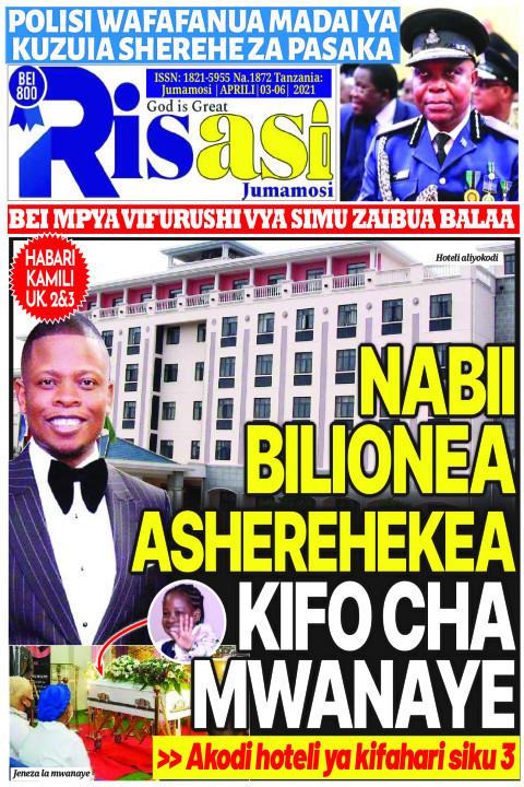 NABII BILIONEA ASHEREKEA KIFO CHA MWANAYE | Risasi Jumamosi