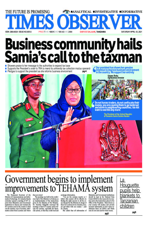 Business community hails Samia's call to the taxman | Times Observer