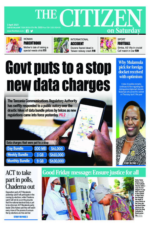 GOVT PUTS TO A STOP NEW DATA CHARGES