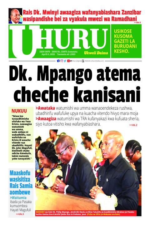 Dk. Mpango atema cheche kanisani  | Uhuru