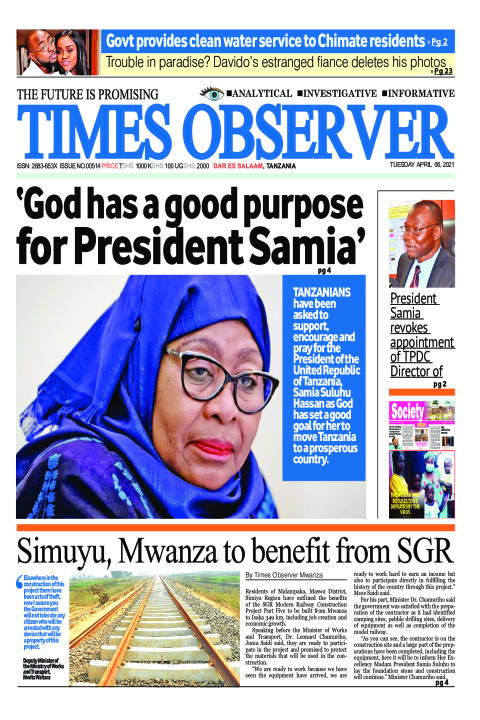 'God has a good purpose for President Samia' | Times Observer