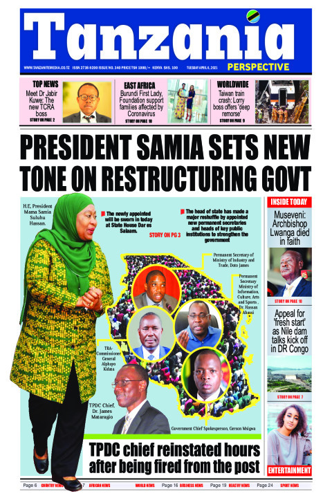 President Samia sets new tone on restructuring Govt