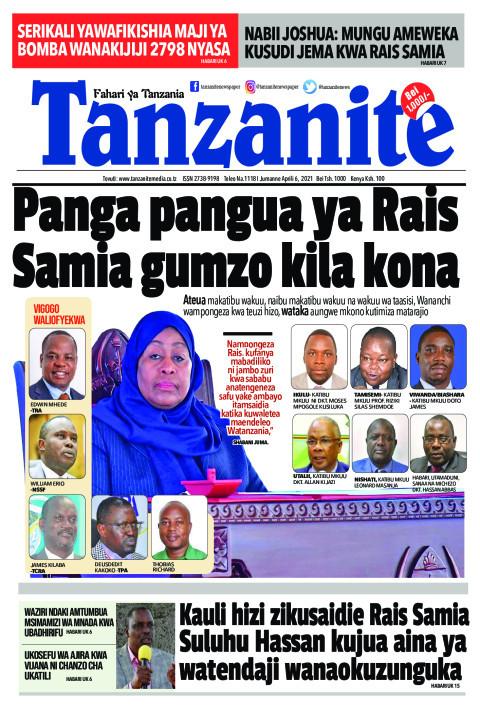 Panga pangua ya Rais Samia gumzo kila kona | Tanzanite