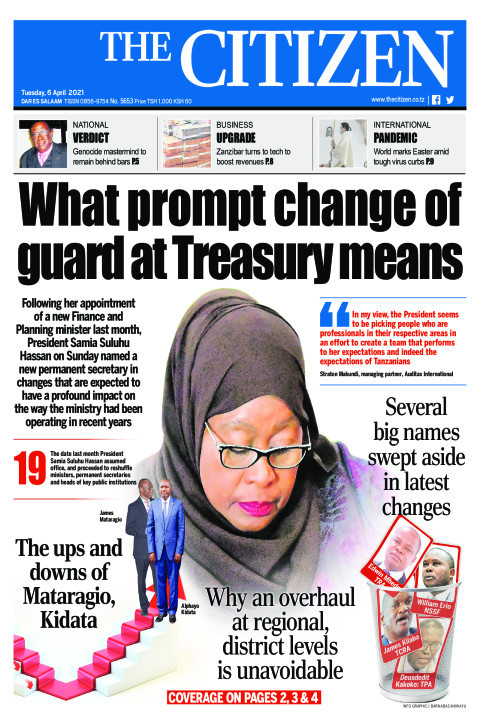 WHAT PROMPT CHANGE OF GUARD AT TREASURY MEANS