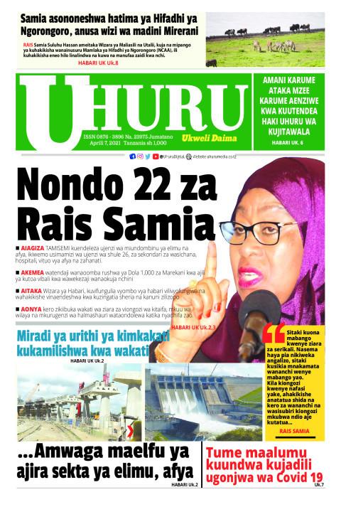 Nondo 22 za Rais Samia | Uhuru