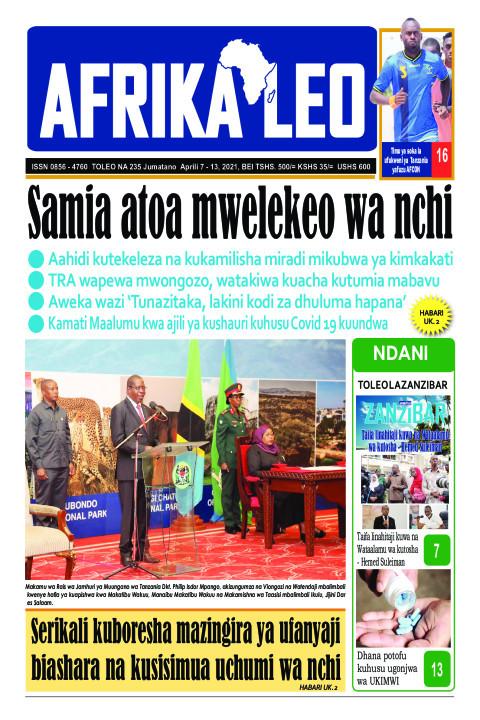 Samia atoa mwelekeo wa nchi   | AFRIKA LEO