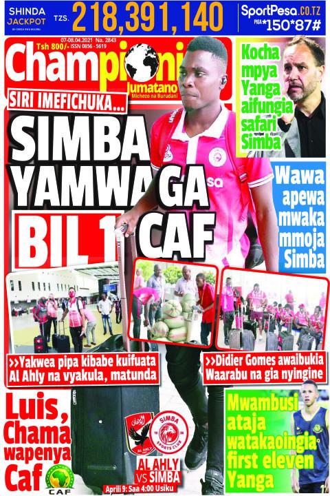 SIMBA YAMWAGA BIL 1 CAF | Champion Jumatano