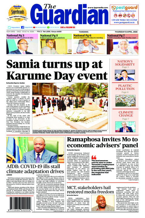Samia turns up at Karume Day event | The Guardian