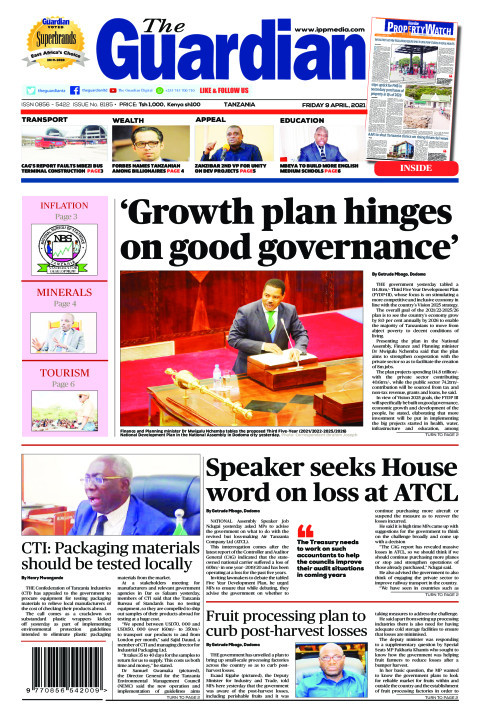 'Growth plan hinges on good governance'   The Guardian