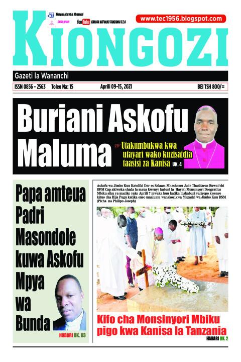 Buriani Askofu Maluma | Kiongozi