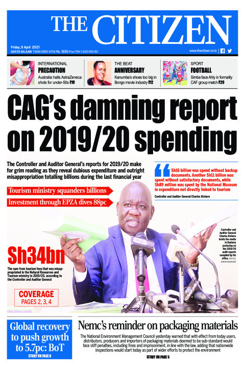 CAG's DAMNING REPORT ON 2019/20 SPENDING