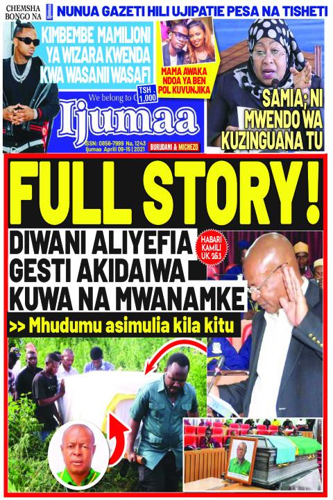 FULL STORY! DIWANI ALIYEFIA GESTI AKIDAIWA KUWA NA MWANAMKE | Ijumaa Ijumaa